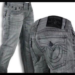 True Religion Ricky Silverwood grey jeans 36x36